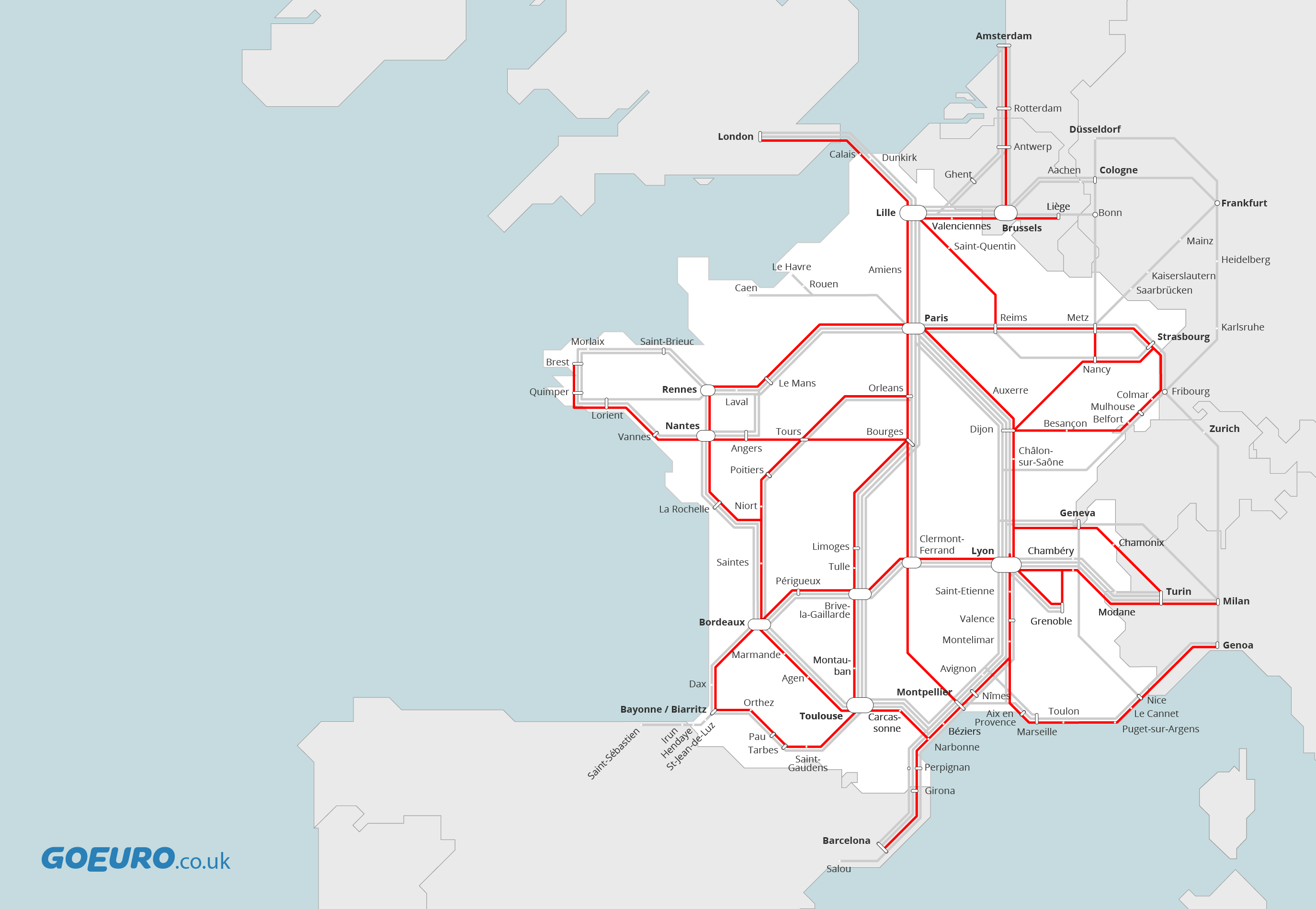 Buses in France – Train Travel In France Map